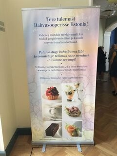 Advertising wall for Rahvusooper Estonia