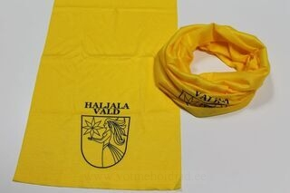 Tube scarf with logo